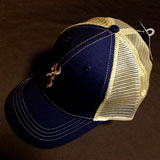 Browning Trouter Mesh Back Cap Navy/Tan